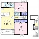 柿原新築アパート 間取り図